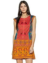 global desi Women's Shift Knee Long Dress