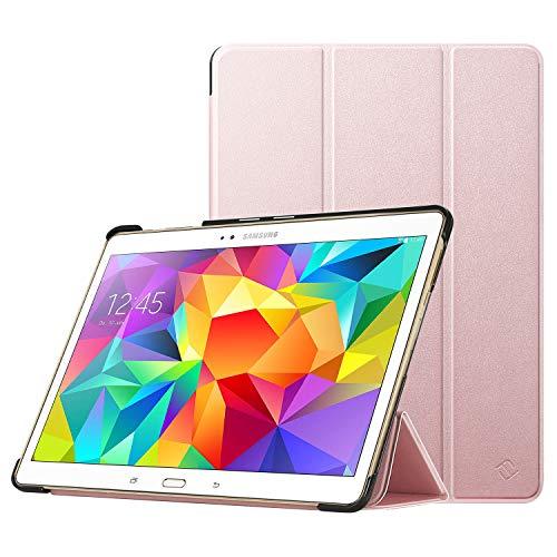 Fintie Hülle für Samsung Galaxy Tab S 10.5 T800 T805 (10,5 Zoll) Tablet-PC - Ultra Schlank superleicht Ständer SlimShell Cover Schutzhülle Etui Tasche mit Auto Schlaf/Wach Funktion, Roségold
