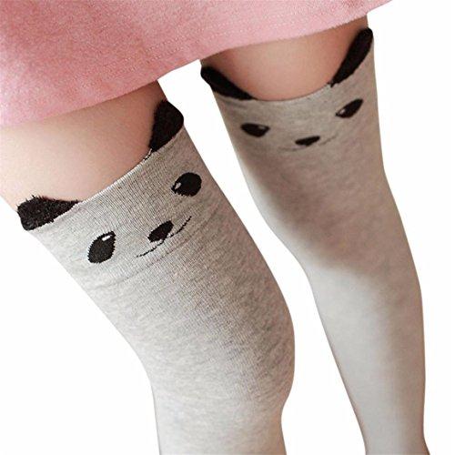 Männer Stiefel Die Verkauf Auf (Frauen Winter Lange Stiefel Socken,Moonuy Neue Katzenbär Panda strickte über Knie lange Stiefel Oberschenkel-hohe warme Socken)