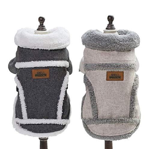 Handfly Hundekleidung Für Kleine Hundepullover Hund Kleidung Herbst Winter Haustier Katze Hundebekleidung Sweater Warm Kapuzenjacke Hundemantel Grau