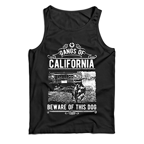 Vest The Gangs of California - Beware of This Dog! Street Gangster Clothing - Money, Power, Respect!