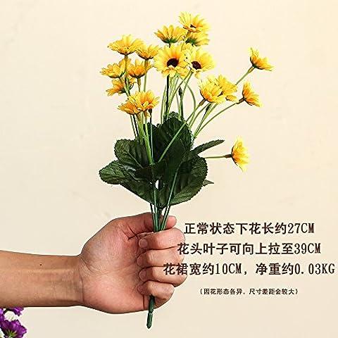 THWS Artificial Flowers sunflower silk flowers living room office home
