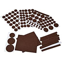 Mudder Muebles de Fieltros, Almohadillas de Protección para Silla y Piso (Conjunto de 132)