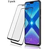 VALUEACTIVE Accessories For All Tempered Glass for Honor 8X (6D)-Edge to Edge Full Screen Coverage Pack of 2