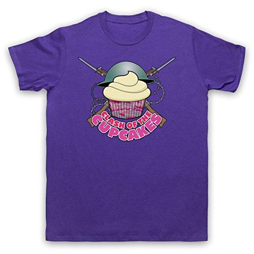 Master Of None Clash Of The Cupcakes Herren T-Shirt Violett