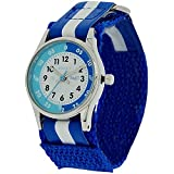 Reflex Time Teacher Blue & White Easy Fasten Watch REFK0001 + Telling Time Award