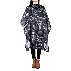 1# : Anself Haircut Apron Hairdressing Gown Cape Hair Design Cut Salon Hairstylist Barber Nylon Cloth Wrap Protect