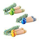 Outdoor Sports Springseil Springseil mit Holzgriff Geschwindigkeit Fitness Sportartikel für Kinder Erwachsene (Gelegentliche Farbe)