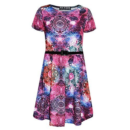 A2Z 4 Kids Girls Skater Dress Kids Kaleidoscope Print for sale  Delivered anywhere in Ireland