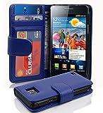 Cadorabo Hülle kompatibel mit Samsung Galaxy S2 / S2 PLUS Hülle in KÖNIGS BLAU Handyhülle mit 3 Kartenfächern Case Cover Schutzhülle Etui Tasche Book