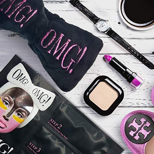 OMG Haarband | Original Produkt Von Double Dare | Hält Haare Aus Dem Gesicht Beim Auftragen Von Makeup Peelings Und Gesichtsmasken | Samtweich | Universalgröße
