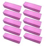 10-Pcs-Pink-Buffer-Buffing-Sanding-Block-File-Manicure-Pedicure-For-Nail-Art