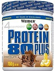 Weider, 80 Plus Protein, Schoko, 1er Pack (1x 750g)