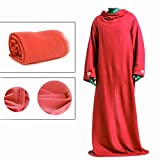 Snuggle Wrap Soft Blanket With Sleeves