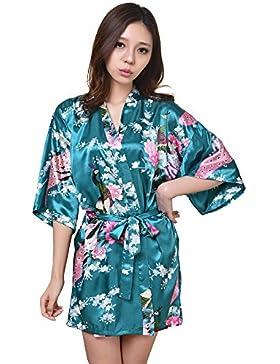 GL&G Abito da sposa Sconto kimono donna di seta Accappatoio corto Pigiami confortevoli Accappatoio sciolto Accappatoio...