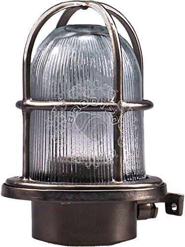 Fax Schiffslampe schiffsleuchten Gitter lampe aus massivem Messing wasserdichte Leuchter Licht lampe Nautische Marine Boot Wandlampe Industrielicht