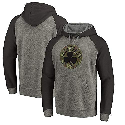 QAZ NBA Hoodie Spring Sweatshirt Boston Celtics Basketball Fan Jersey Freizeit Bequemes Sport-T-Shirt NBA T-Shirt,Grey3-XXXL -