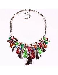 Yazilind ¨¦tnico collar de la joyer¨ªadel estilo de cristal colorido esmalte babero para las mujeres