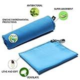 Asciugamani 80x160cm Blu da Palestra, Sportive, Viaggio o Campeggio,Spiaggia in Microfibra