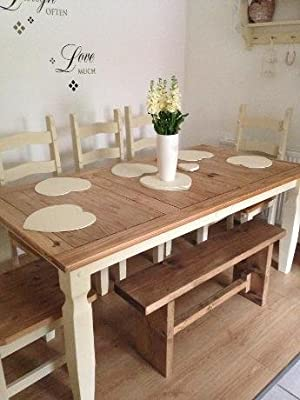Hand crafted rustic Farm house kitchen Bench wooden produced by Simply Rustic Furniture - quick delivery from UK.