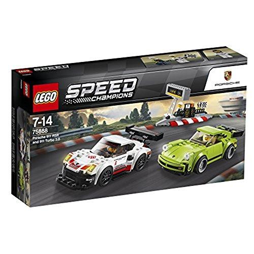 LEGO – 75888 – Speed Champions – Jeu de construction – Porsche 911 RSR et 911 Turbo 3.0