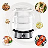 from Aigostar Aigostar Fitfoodie 30INA - Electric Food Steamer, 800W, 3-Tier 9 L Capacity, 60-Minute Timer, Brushed Stainless Steel, Stackable Baskets, BPA Free, Exclusively Design.