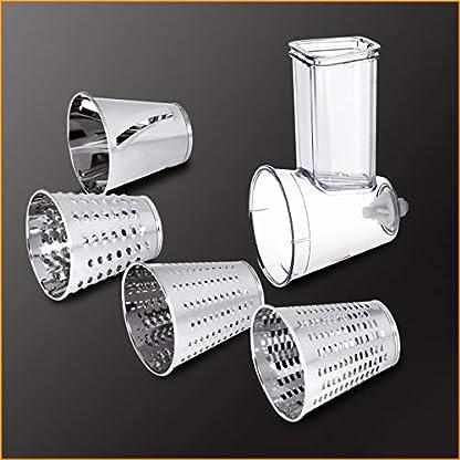 Krups-KA631D-Master-Perfect-Gourmet-Kchenmaschine-1100-Watt-Gesamtvolumen-46-Liter-inkl-Back-Set-Schnitzelwerk-Fleischwolf-Delica-Tool-Flex-Bowl-Flex-Whisk-silber