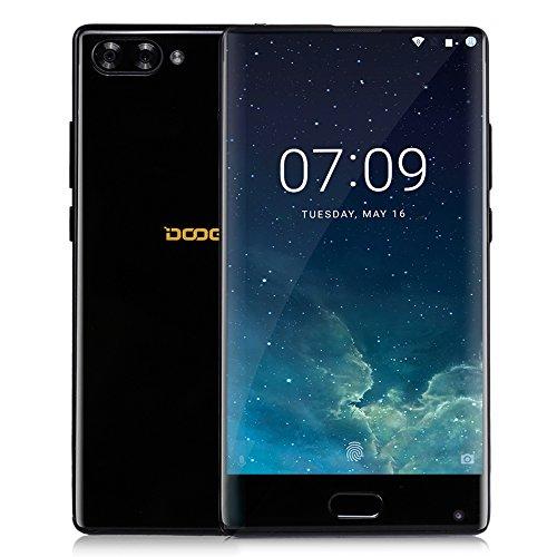 DOOGEE MIX 4G Teléfono Inteligente(Cuerpo de Metal, 5.5 Pulgadas HD Pantalla, Android 6.0, 6GB RAM + 64GB ROM, Cámaras Triples, Batería 3380mAh, Dual SIM, Huella Dactilar), Negro