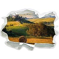Italiano Paesaggio Toscana, carta da parati 3D formato adesivo: 62x45 cm decorazione della parete 3D Wall Stickers parete decalcomanie