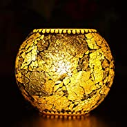 iHandiKart Handmade Multicolor Decorative Table lamp (IHK25008) with Unique Design and Crackle Work On lamp Us