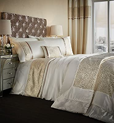 Catherine Lansfield Luxor Jacquard Bed Collection Silver Or Gold