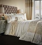 Catherine Lansfield Home Luxor jacquard bestickt Bettbezug Set, Gold, Double, Polyester, gold, Doppelbett