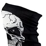 Oblique Unique® Multifunctional Headwear Seamless Magic Scarf Headbands - Centered Skull