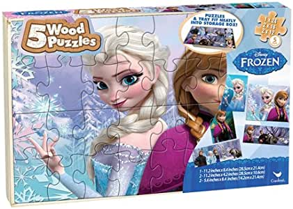 Disney Frozen 2 Wooden 3 Pack Puzzle