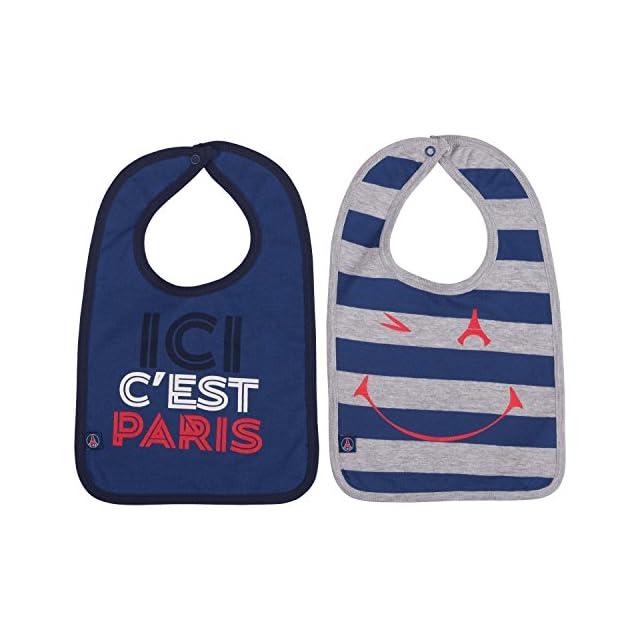 2883ad88adefc3 2 x bavoir PSG - Collection officielle Paris Saint Germain - Taille bébé  garçon ...