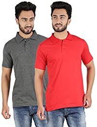 Ap'pulse Men's Polo Neck T Shirt Combo(Pack of 2)