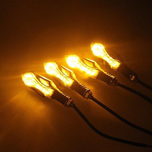 4x Universal Motorrad Blinker Ruecklicht Bremslicht Licht Quad Roller Lampe 12 LED