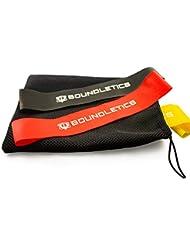 Mehrfach prämierter Testsieger: 3er Set Loop-Bands aus Naturkautschuk - 3 verschieden starke Fitnessbänder mit Transportbeutel für ein gezieltes Bein- und Armtraining - Ideal für das Training zu Hause oder Unterwegs