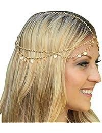 Ukamshop Mode chaîne de bijoux de la chaîne Bandeau Pièce de tête brillant cheveux bande de glands