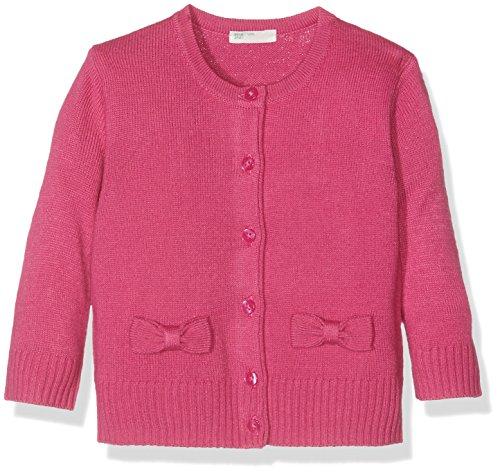 United Colors of Benetton Baby-Mädchen Strickjacke 10P1C518N, Rosa (Bright Pink), 80 (Herstellergröße: 74)