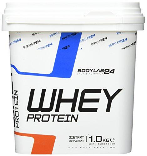 Bodylab24 Whey Protein Eiweißpulver | 1kg | Cookies & Cream | hochwertiges Proteinpulver, Low Carb Eiweiß-Shake für Muskelaufbau und Fitness