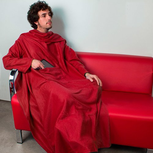 Bata manta Manta con mangas para sofa bata bolsillo para mando libro etc talla unica
