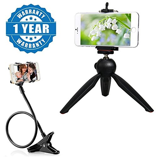 Captcha 228 MINI 7 INCH MOBILE TRIPOD WITH 360° ROTATING BALL HEAD With Unique Flexible 360 Degree Snake Style Long Lazy Foldable Mobile Holder Stand Compatible with Xiaomi, Lenovo, Apple, Samsung, Sony, Oppo, Gionee, Vivo Smartphones (One Year Warr