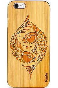 Lumbr Koi Fish Art 2 Classic Wooden Case for Apple iPhone 6/6s-Black