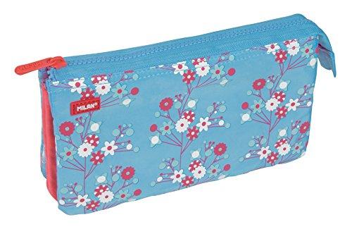 Milan 081133BLS Blossom Estuches, 22 cm, Multicolor