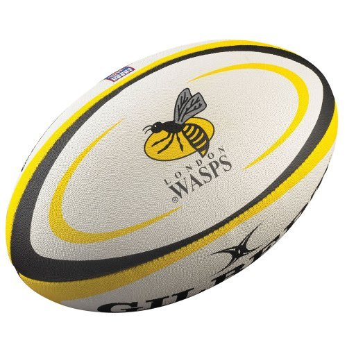 GILBERT London Wasps Kopie Fans Rugby Ball - Weiß, 2