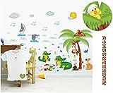 ZBYLL Wall Sticker Cartoon Krokodil Tiere Schlafzimmer Wohnzimmer Hintergrund Dekoration Aufkleber