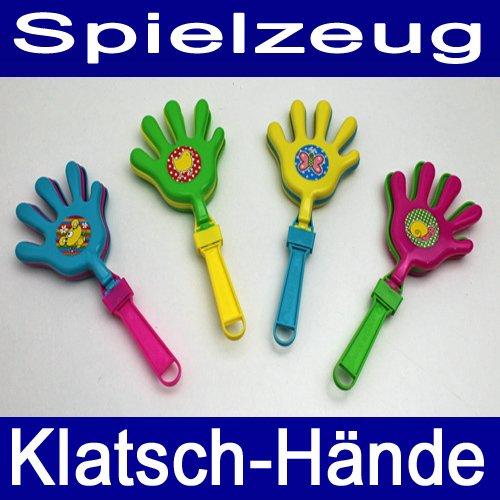 Preisvergleich Produktbild Klatschhände SET 4 tlg., Kunststoff, 4x Spielzeug Motiv Klatsch Hände Hand, bunt (LHS)