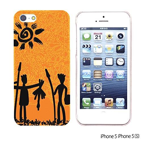 OBiDi - National Pattern Hardback Case / Housse pour Apple iPhone SE / Apple iPhone 5S / 5 - Colorful Elephant ArtWork Black Hunter