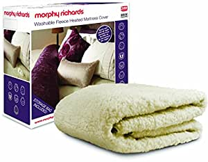 Morphy Richards 75286 Fleece Washable Heated Mattress Cover Single Control - Single